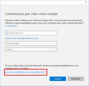 Windows 10 - Ajout Utilisateur Fenetre 2