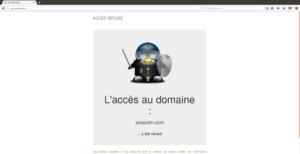 CTparental - Contrôle parental pour Linux - Site bloqué