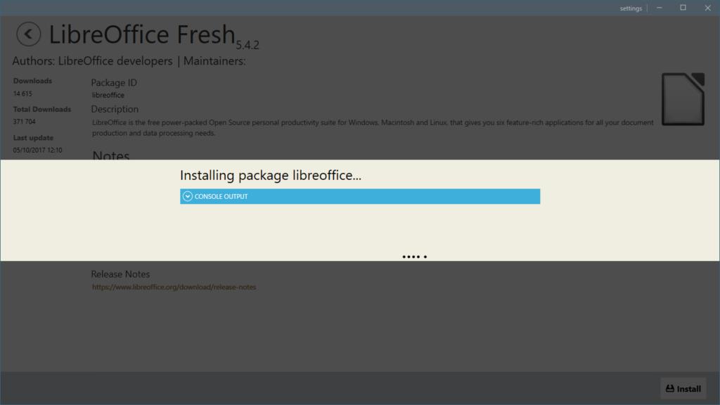 Chocolatey GUI 0.15 - Installation programme