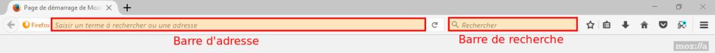 Firefox - Zone pour faire une recherche sur internet