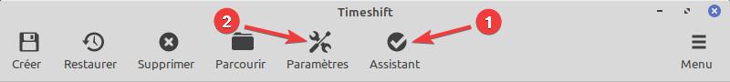 configurer timeshift
