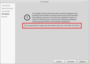 Mettre à jour vers Linux Mint 18.3 - Pré-requis