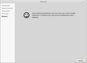 Mettre à jour vers Linux Mint 18.3 - Fin - Résumé