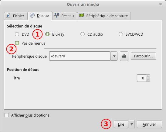 VLC - Ouvrir un média