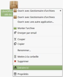 Extraire Installeurs LibreOffice 6.0