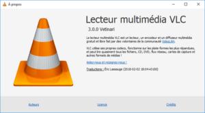 à propos VLC 3.0