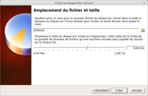VirtualBox - Créer un disque dur virtuel - taille