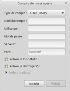 Compte de messagerie IMAP