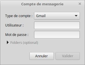 Compte de messagerie - Mailnag