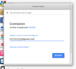 Compte Google - identifiant