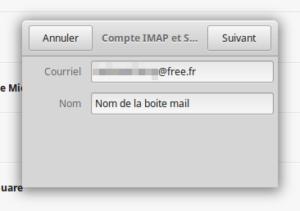 Compte IMAP et SMTP