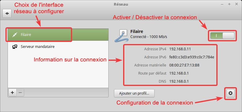 Configuration réseau