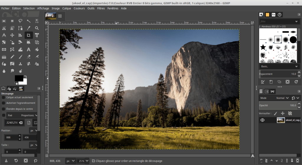 Interface GIMP 2.10