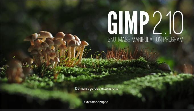 Lancement de GIMP 2.10