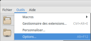 LibreOffice accès options
