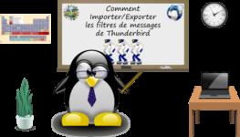 Importer/Exporter les filtres de messages de Thunderbird