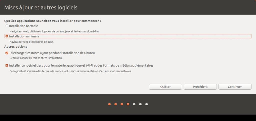 Ubuntu 18.04 - Installation minimum