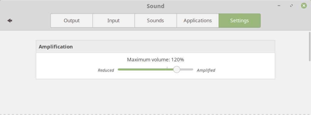 Cinnamon 3.8 - option Volume
