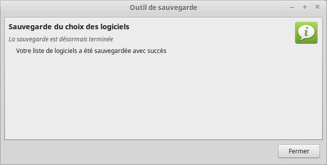 mintbackup - sauvegarde du choix des logiciels 3
