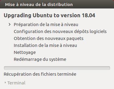 Ubuntu 16.04 vers Ubuntu 18.04 - 4 - Préparation mise à niveau