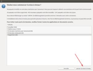 Ubuntu 16.04 vers Ubuntu 18.04 - 5 - lancer la mise à niveau