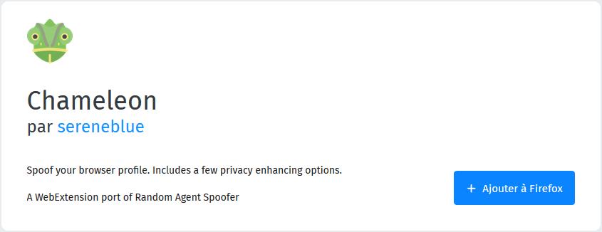 Chameleon extension pour Firefox