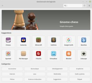 Gestionnaire de logiciels de Linux Mint 19