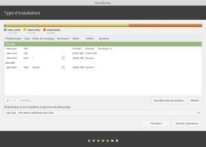 Type installation - exemple avec /home sur un autre disque