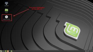 Raccourcis pour lancer l'installation de Linux Mint 19