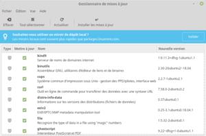 Linux Mint 19 - gestionnaire des MAJ - Rappel configuration des dépôts