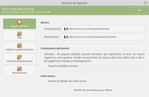 Linux Mint 19 - Sources des logiciels