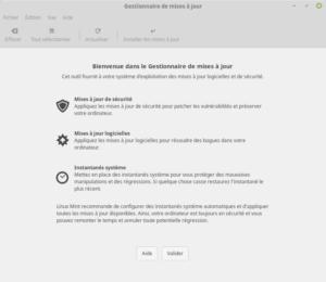 Linux Mint - Gestionnaire des MAJ