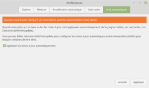 Linux Mint - maj automatique