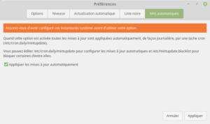 Linux Mint - maj automatique
