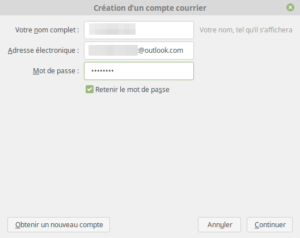 Création compte mail Outlook 1