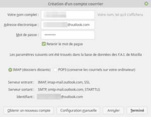Création compte mail Outlook 2