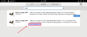Flatpak dans GNOME Software