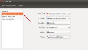 Ubuntu 16.04 - Accès applications par défaut