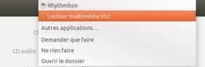 Exemple liste applications pour Médias amovibles sur Ubuntu 18.04