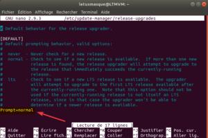fichier release-upgrades - mise à niveau normal