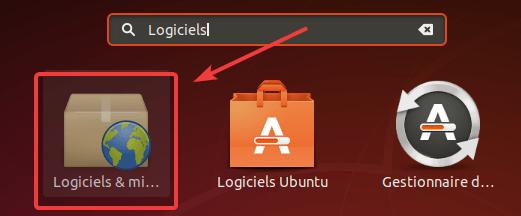 Logiciels et mises à jour Ubuntu