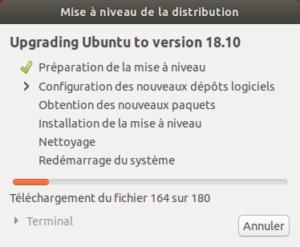 Mise à niveau vers Ubuntu 18.10 - Préparation