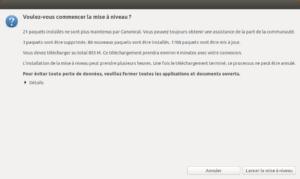 Mise à niveau vers Ubuntu 18.10 -Lancement