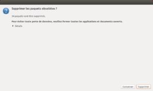 Mise à niveau vers Ubuntu 18.10 - Supprimer paquets obsolètes