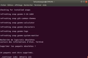 Mise à niveau vers Ubuntu 18.10 en ligne de commande - 4 - validation suppression paquets obsolètes