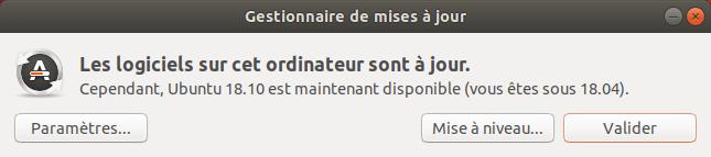 Mises à niveau vers Ubuntu 18.10