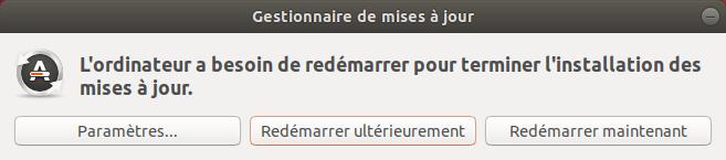 Redémarrage mises a jour Ubuntu