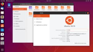 Dossiers et Détails - Ubuntu 18.10