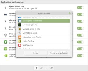 Ajout d'une application au démarrage dans Linux Mint Cinnamon