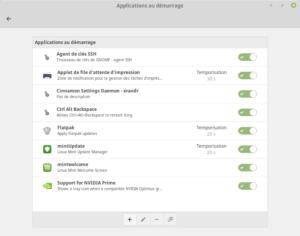 Applications au démarrage dans Linux Mint Cinnamon